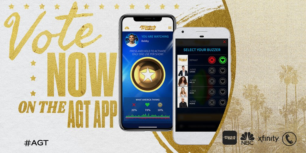 You're not getting the full experience without the #AGT app. Trust us on this. https://t.co/HVFkEbcpqJ