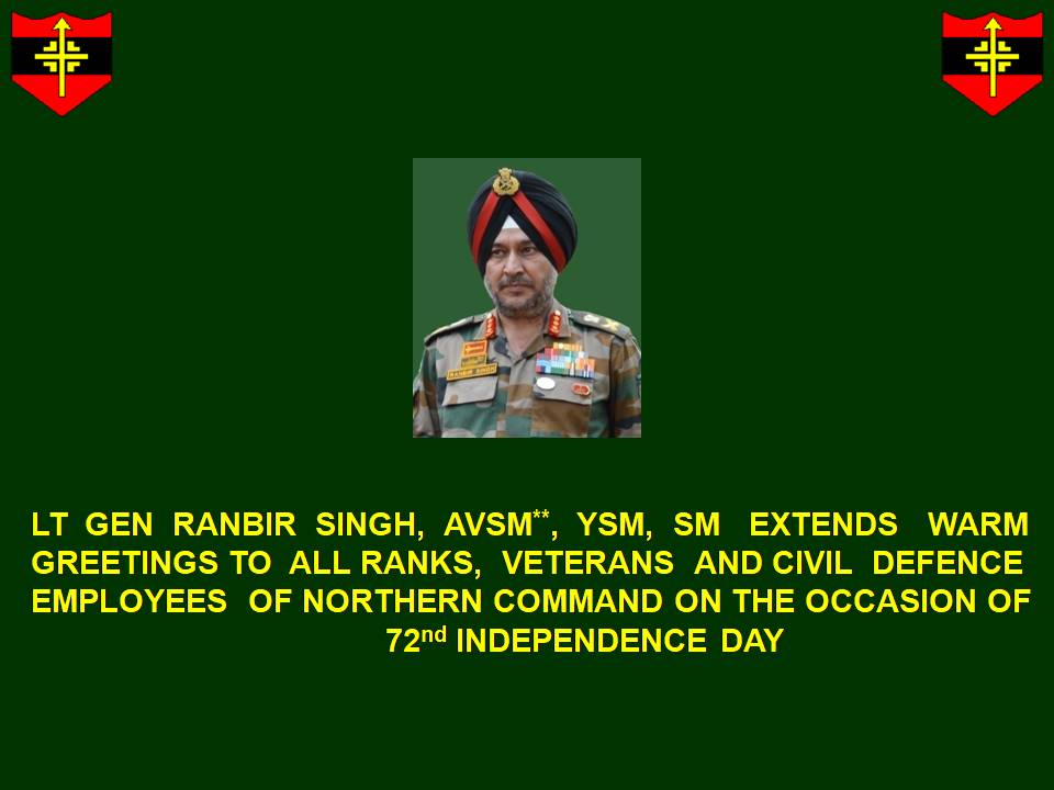 72nd #IndependenceDay message by #ArmyCdrNC @adgpi @PIB_India @SpokespersonMoD<br>http://pic.twitter.com/PL0VJIQ5Tc