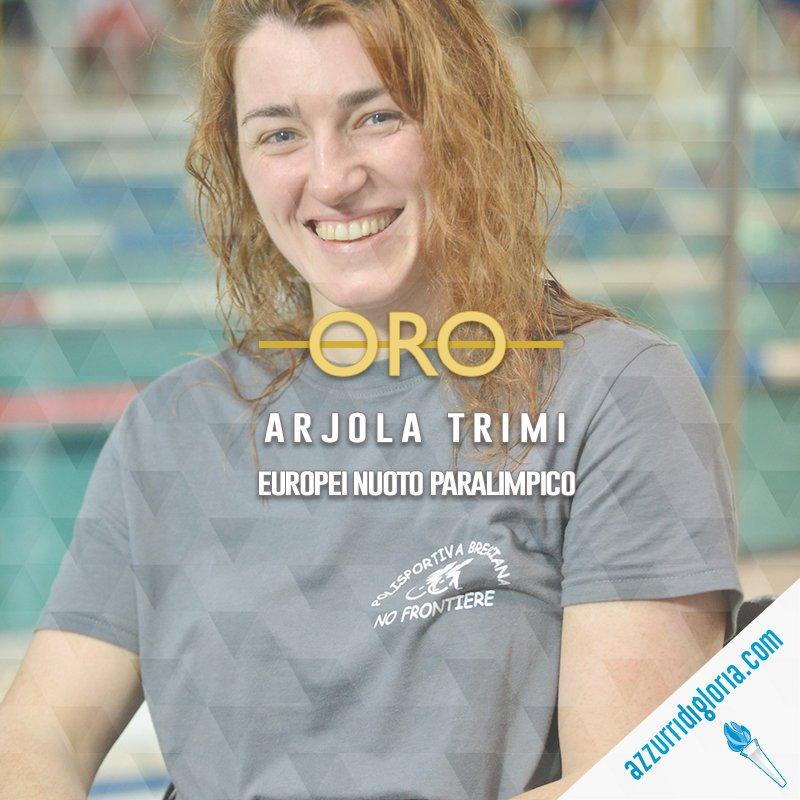  #NUOTO PARALIMPICO, #EUROPEI #Dublino2018 Azzurre indemoniate oggi in vasca! Altra medaglia #oro per @FINPARALIMPICO e @ItaliaTeam_it, conquistata da Arjola Trimi nei 50m stile libero!!  - Ukustom