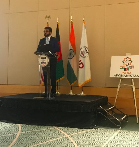Ambassador @hmohib speaks of the bilateral trade relationship between India & AFG: It is expected to reach $2 billion USD by 2020 with the opening of the air cargo route between the two countries.
