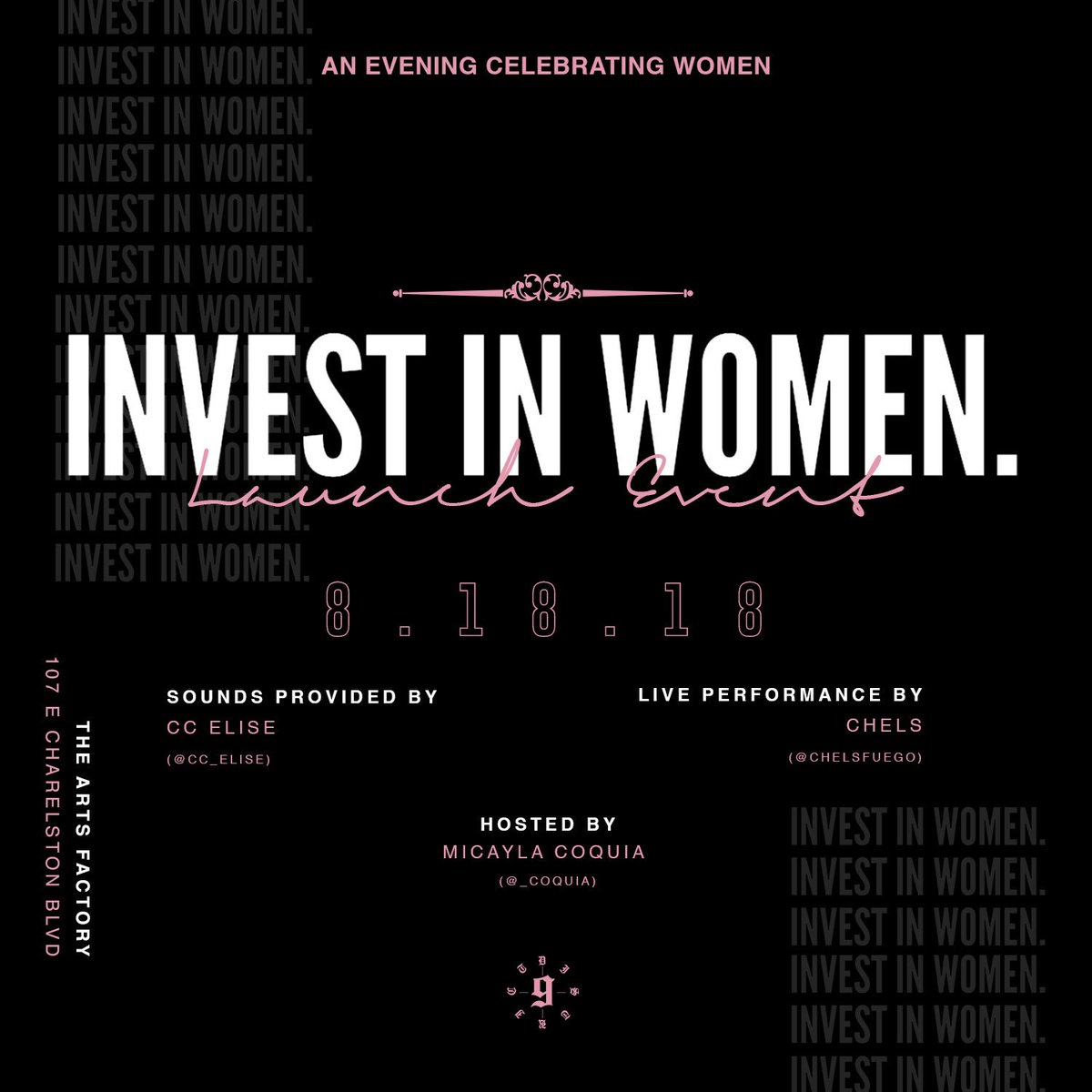 """Proud to announce the launch of my latest Venture """"INVEST IN WOMEN""""    A lifestyle brand and platform created to encourage, promote and assist in the growth &amp; development of all Women!   Been along time coming but we celebrate the official launch this Saturday 8•18•18 <br>http://pic.twitter.com/FhpuPdQKoS"""