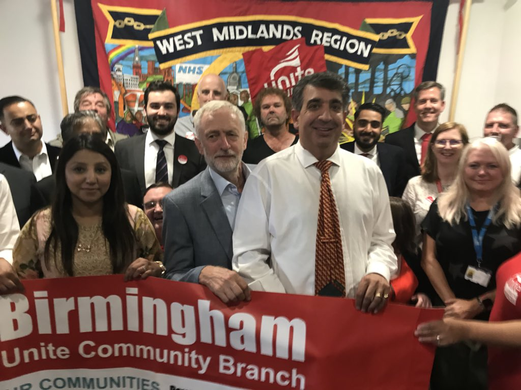 Great to see @jeremycorbyn in Stoke today with West Midlands Unite showing strength in numbers.   The trade union movement built the Labour Party and it's fantastic to see a leader fully committed to our struggle  <br>http://pic.twitter.com/EbjQ9aN3N4