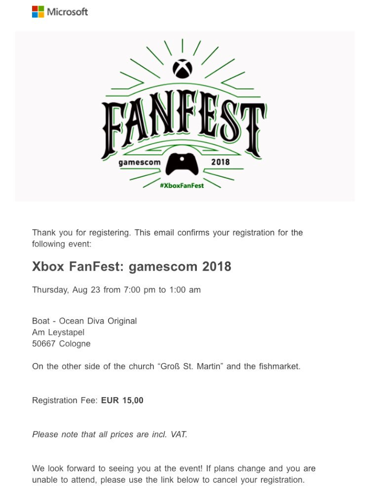 "#xboxfanfest After One hour of pure Thriller my whole squad made it for the Fanfest-Ticket ""Giveaway""! Really excited :) @XboxDACH @majornelson @moneyrumble @GMaxee<br>http://pic.twitter.com/qO6oSrm4P7"