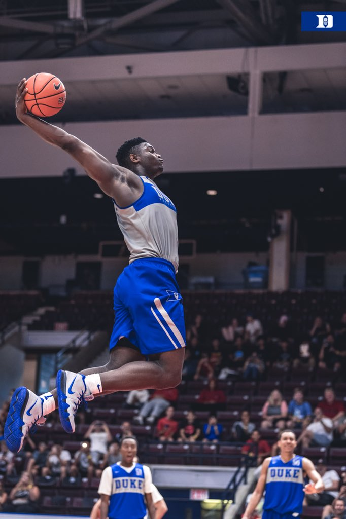 863a1eece758 Video  Duke s Zion Williamson Dunks From the Free Throw Line With Ease ...