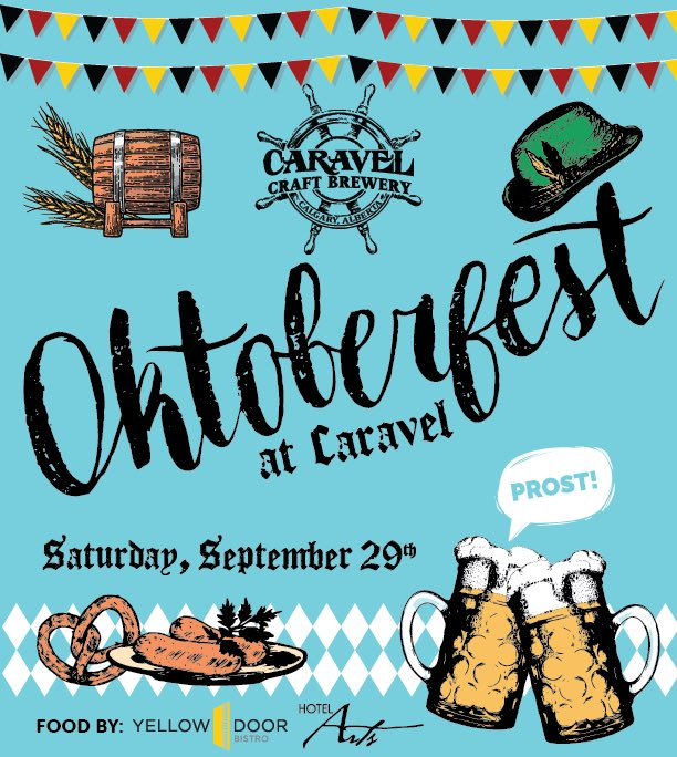 Caravel is hosting an Oktoberfest celebration September 29th starting at 2pm!  Food by @YellowDoorYYC, Caravel will be serving our German beer lineup &amp; a special cask. Live music, competitions, giveaways, and more! #yyc #yycevents #calgary #yycbeer #albertabeer #yycfood<br>http://pic.twitter.com/RG0ehHjWFA