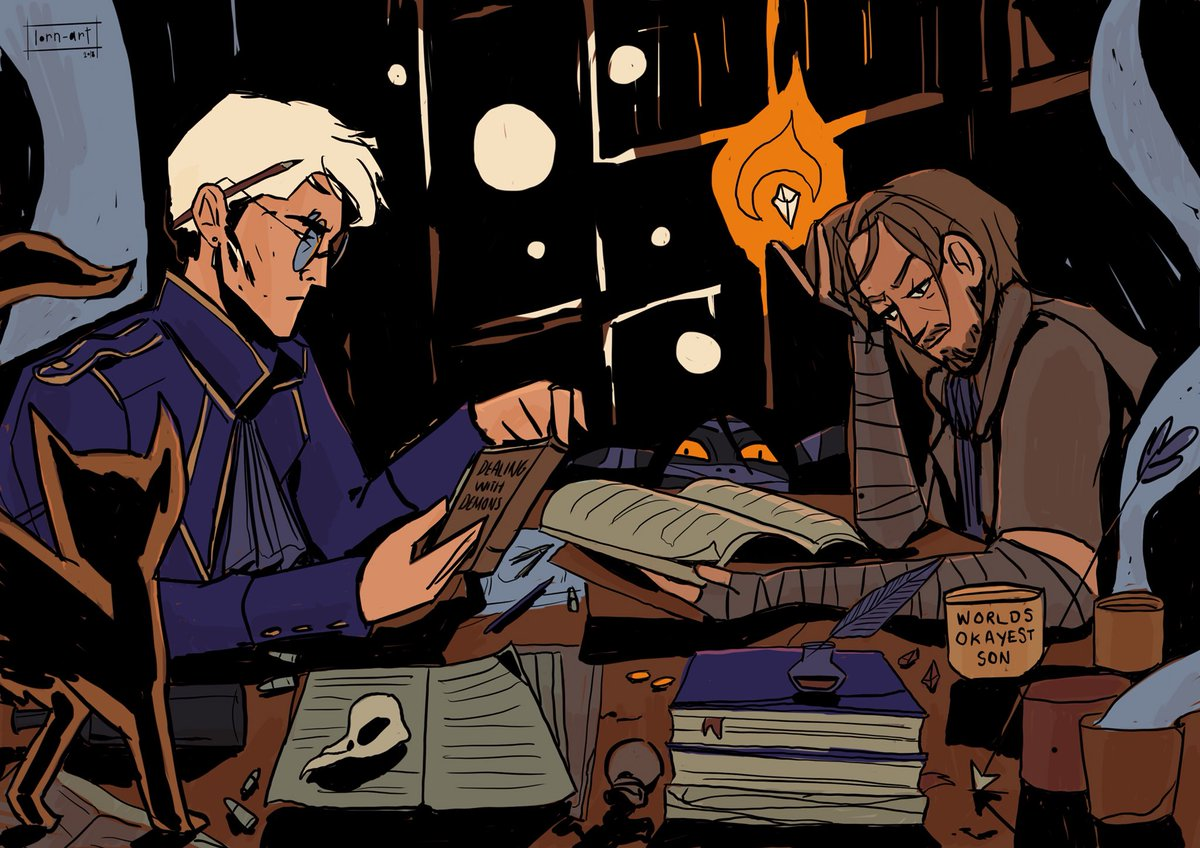 These two? Together? Dangerous   Prompt from my tumblr #criticalrolefanart #criticalrole #percyderolo #calebwidogast<br>http://pic.twitter.com/Sm1X60QjpX