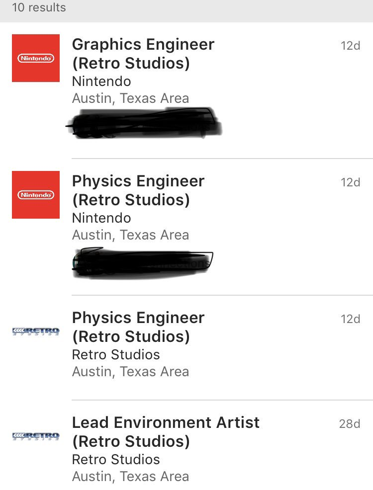 """Lot of available job positions at #RetroStudios Some of those Glassdoor Reviews might be legit &amp; maybe they're working on multiple IP's. 1 reviewer mentioned """"3 racing games"""" Don't know about you guys but if there's one studio that can revive IP's it's Retro, new #FZero<br>http://pic.twitter.com/NcRGvPfApZ"""