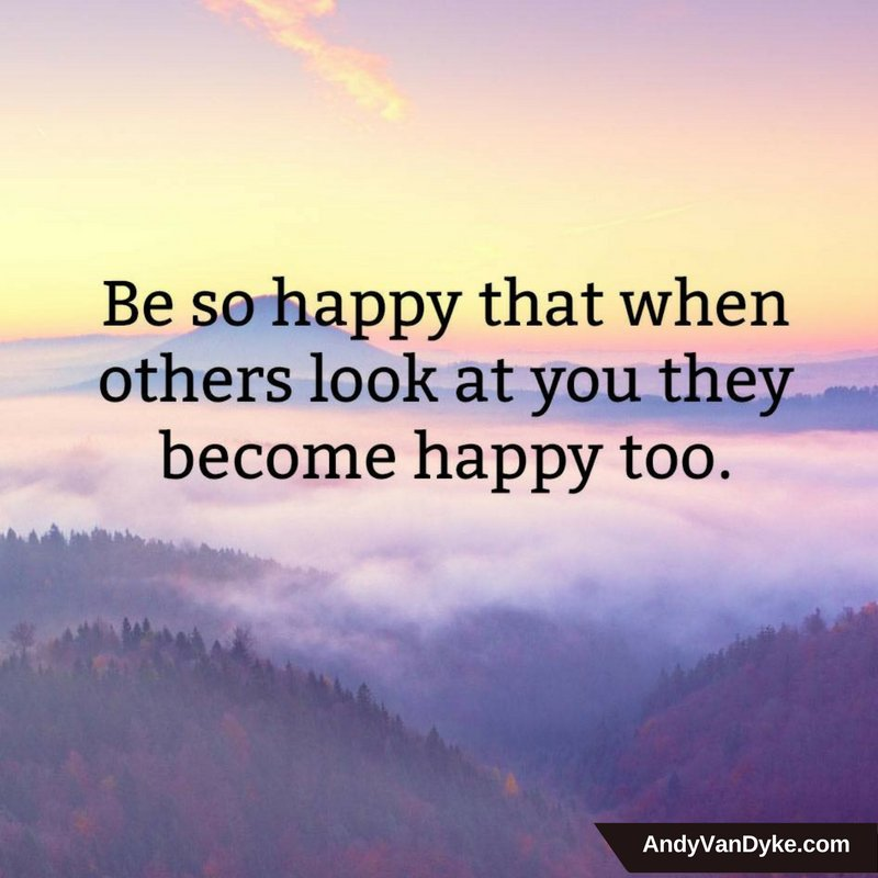Be so happy that when others look at your they become happy too. #SmilesAreContagious #BeHappy