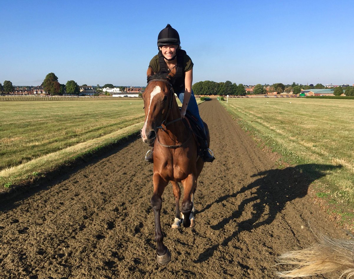 It says a lot about a trainer and his horses when you want to volunteer to ride out while you're on holiday.  Cannot thank @JohnWathenBerry and @CollingsBerry enough for having me while I was back in Newmarket for a few days #TheSmileSaysItAll #HappyHorsesHappyStaff<br>http://pic.twitter.com/pzUDs88B1Z