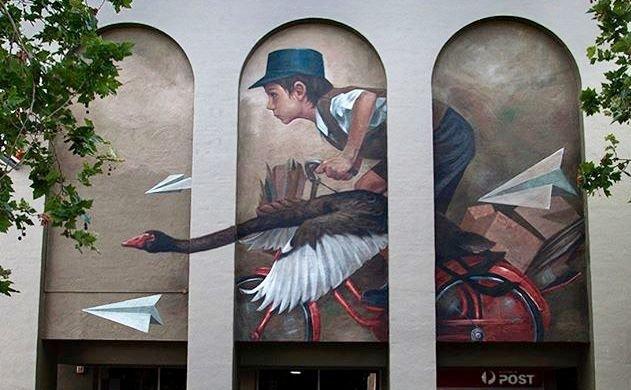 #streetart . #urbanart . #mural  By : Evoca1<br>http://pic.twitter.com/xd4UFy9TN3