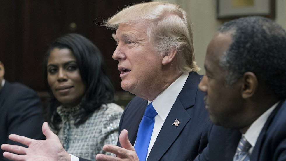 LISTEN: Omarosa releases tape of Trump staffers admitting he used 'n-word' https://t.co/ArWJC410r9