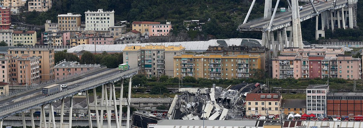 #Genova, #crollo del ponte #Morandi: si aggrava ancora il bilancio delle vittime: secondo la Regione Liguria i morti sono 26, i feriti 15, 9 dei quali gravi  → https://t.co/qmtsCpgRk4