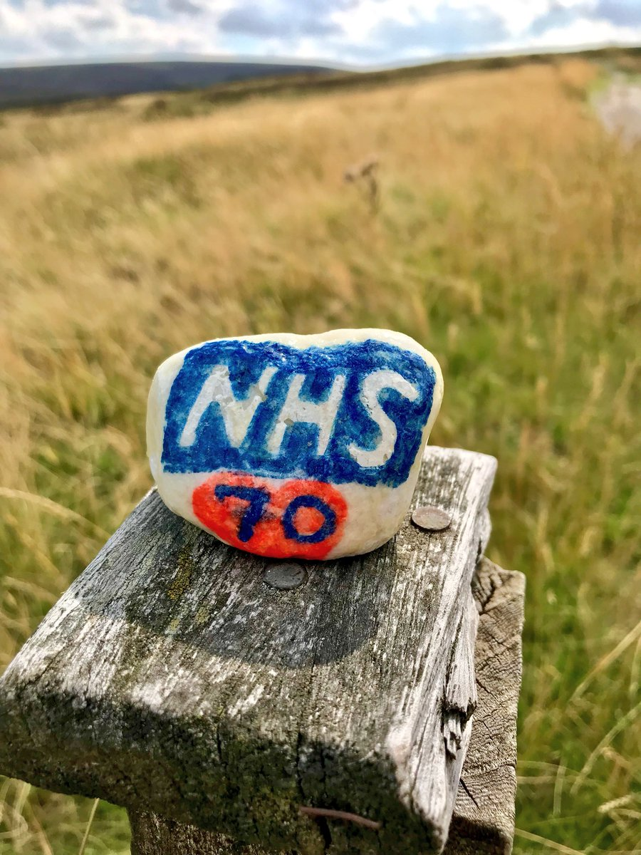 Bit late to the party, but found this little rock in the moors behind my house. #VivaTheNHS #NHS70 #LoveYourNHS #ProudOfTheNHS