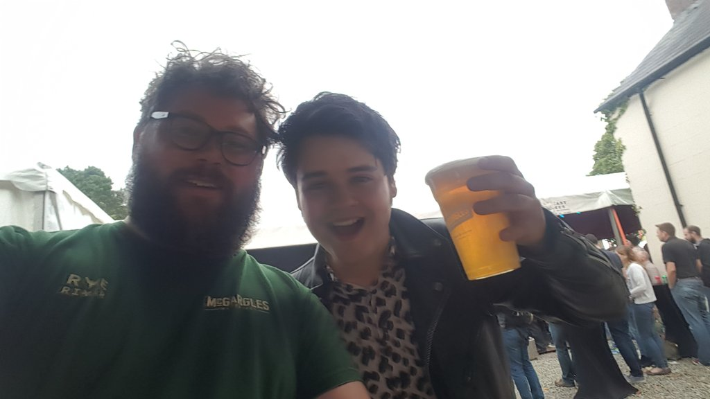 Luke from Touts enjoying a @TheMcGargles Session IPA! <br>http://pic.twitter.com/AhPQpbrN3J