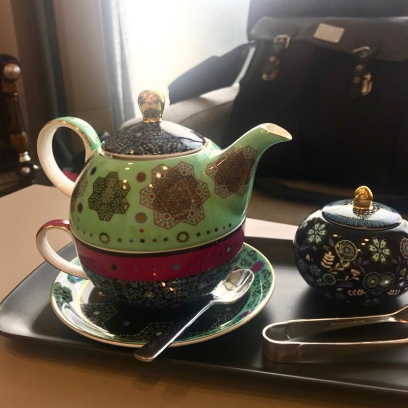 Tea time! How cute is this tea pot?