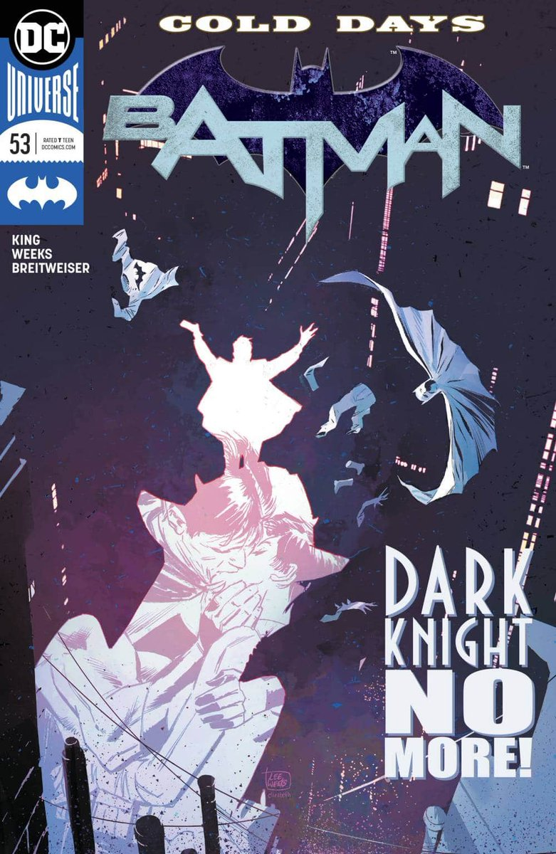 BATMAN #53 by @TomKingTK @Inkdropinc and @bettieb is out tomorrow for NCBD. This is possible the single best issue of the series so far. Very personal story, outstanding layouts, and gorgeous colors.  Highly recommended, be sure to pick it up. <br>http://pic.twitter.com/PBnOXTm6g8