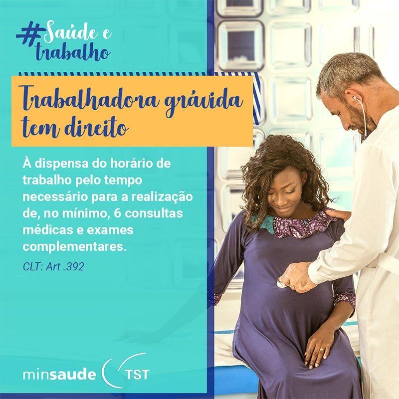 Durante a gravidez, as consultas médicas de pré-natal são fundamentais para garantir a saúde do bebê e da mãe. Confira quais são os direitos garantidos pela CLT! #SaúdeETrabalho