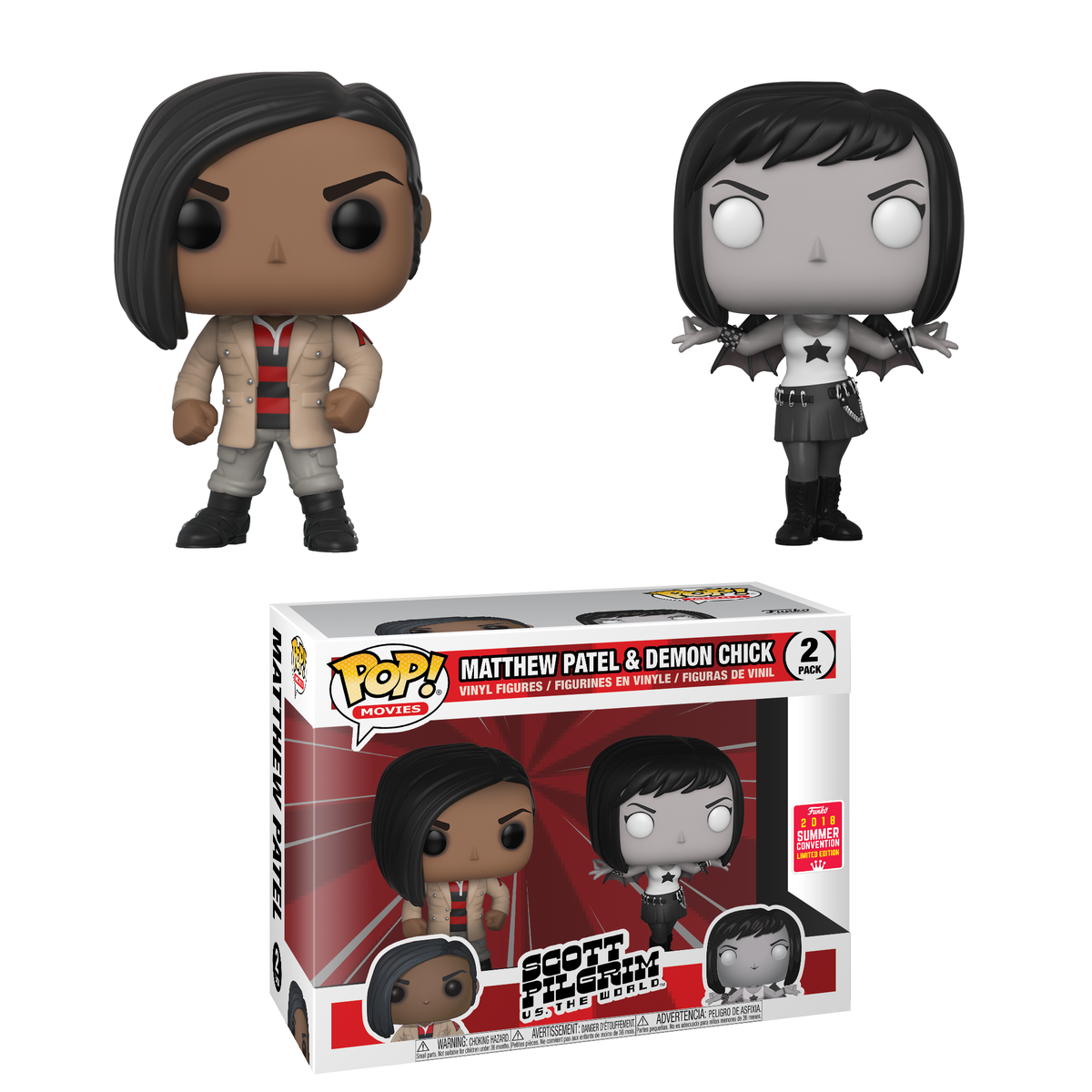 RT &amp; follow @OriginalFunko for the chance to win an #SDCC 2018 exclusive Matthew Patel and Demon Chick Pop! 2-pack!<br>http://pic.twitter.com/QMaoao7cOu