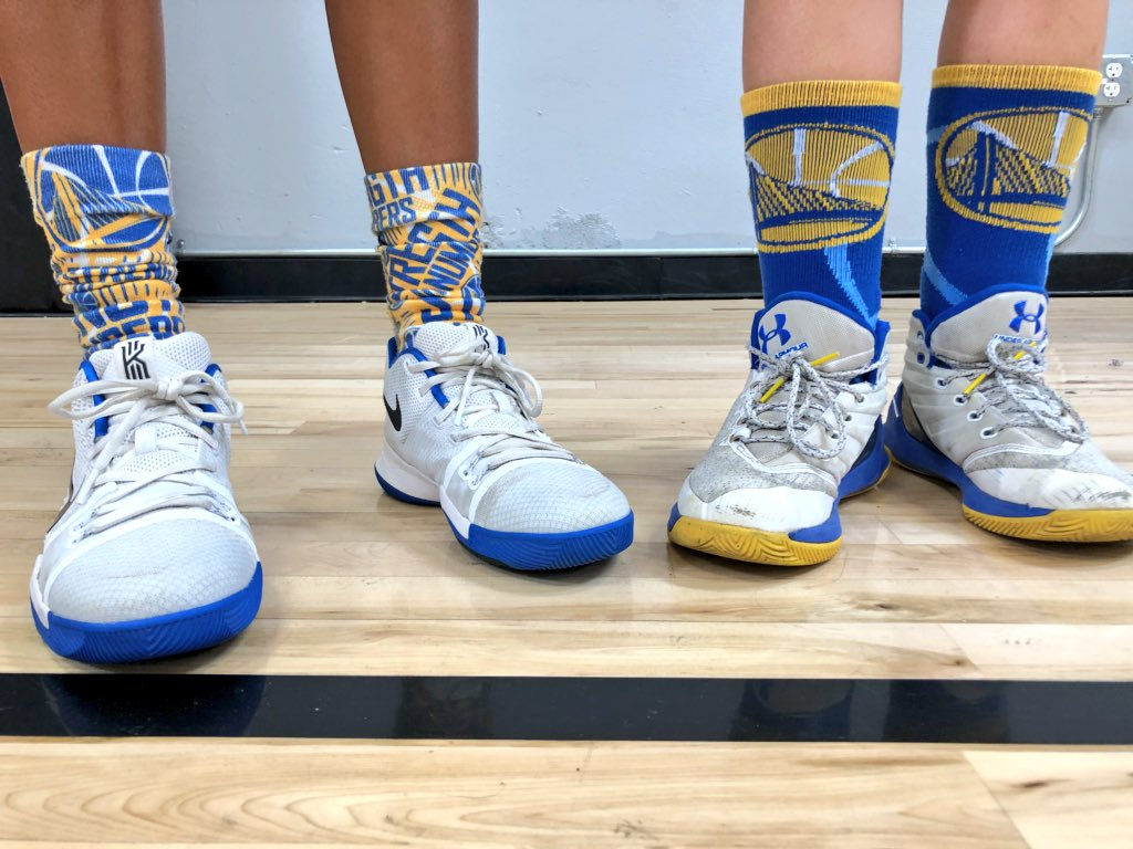 Sock swag at It's Our Game camp😎