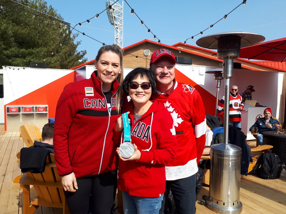 We went see team Canada play for gold but the women brought home silver. We went to Pyeongchang2018 #withaeroplan<br>http://pic.twitter.com/eh4MEkxd6R