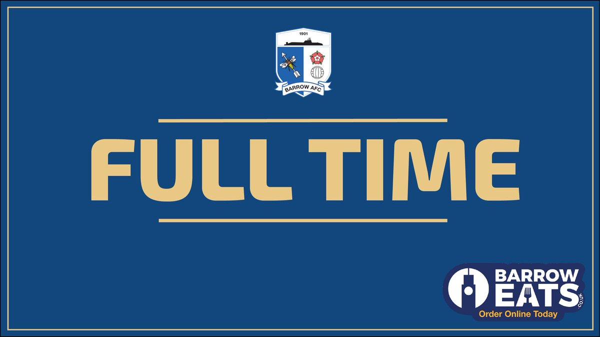 | FULL TIME:  The whistle FINALLY goes!   WHAT A GAME!   Two second goals in as many minutes from Tyler Smith sees the Bluebirds come from behind to claim a big 3 points!   GET IN!!   Barrow 3-2 Chesterfield   #BarrowAFC<br>http://pic.twitter.com/0WFQ6TVmP4