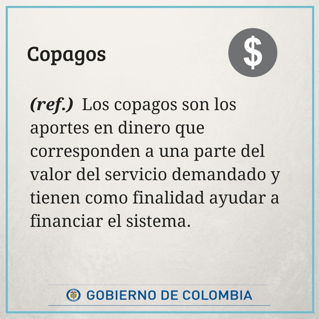 #GlosarioMinSalud Copagos: https://t.co/rAA0ttJjem