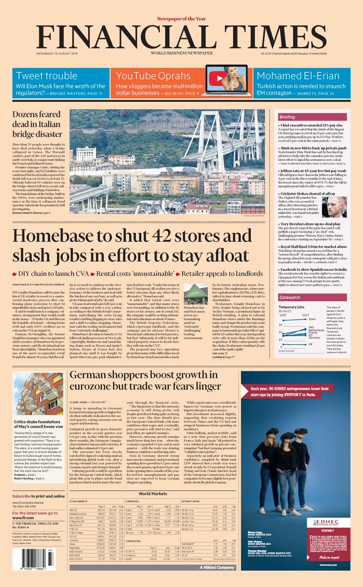 Just published: front page of the Financial Times UK edition Wednesday August 15 https://t.co/AGFufXsG1h