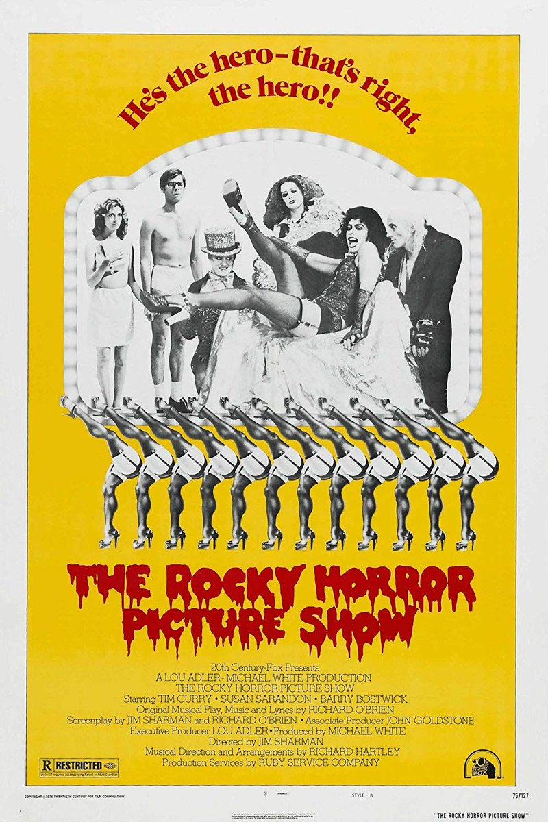 The Rocky Horror Picture Show was released on this day in 1975<br>http://pic.twitter.com/6TEQEx31hu