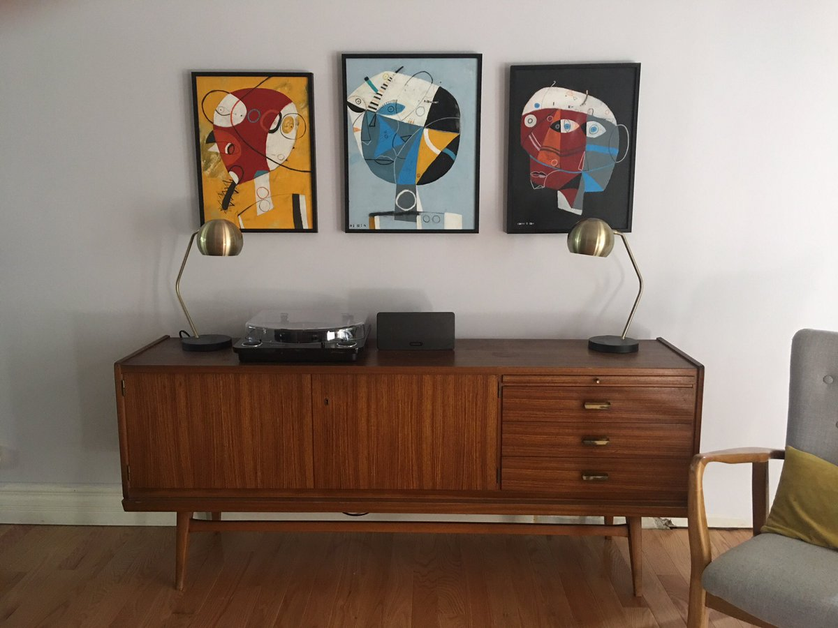 3 pieces That were purchased by an art collector who wanted to add my work to his collection. I am always happy to see my art hanging in someone personal space! #artgallery #abstract #paintings #designs #artgallery #artists #collage<br>http://pic.twitter.com/ckxQJtToeB