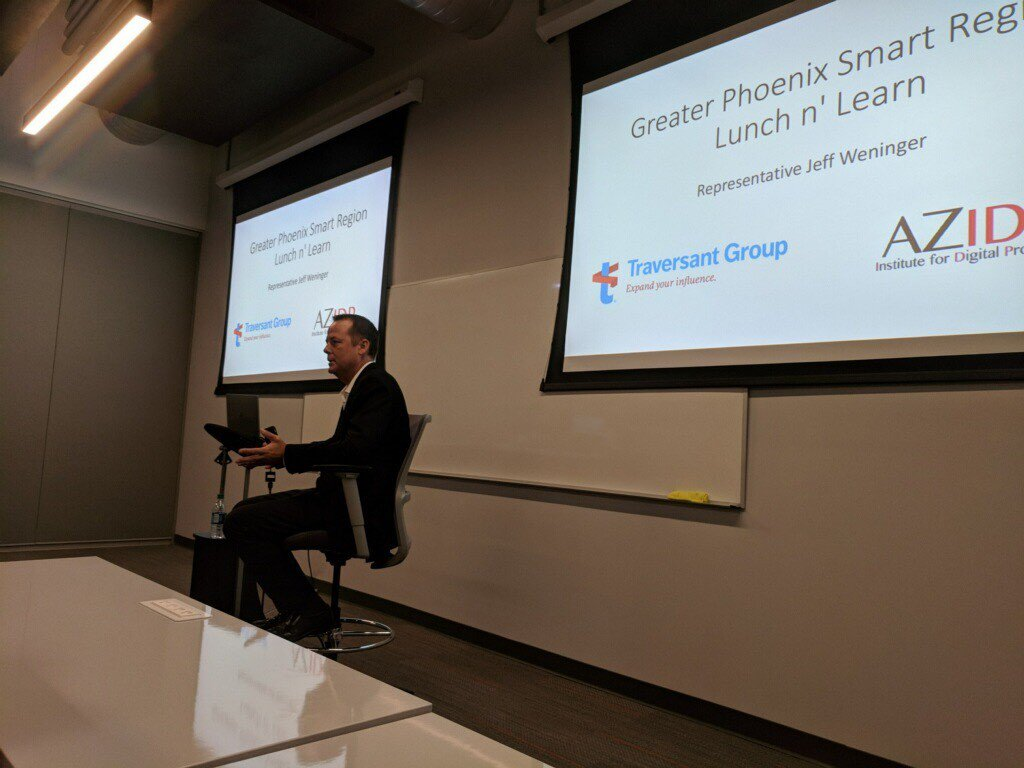 Thank you Rep. Weninger for kicking off our new lunch series! Appreciate all of your insights on emerging tech & AZ!