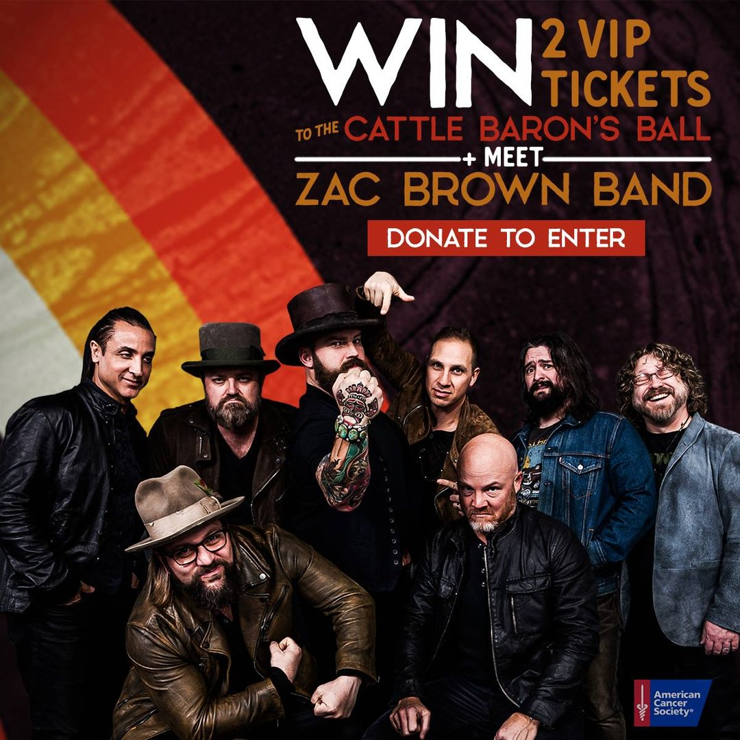 Zac brown band zacbrownband twitter vip experience at the concert your donations benefit the americancancer society enter here httpprizeozacbrownband picitterkissxntm6s m4hsunfo