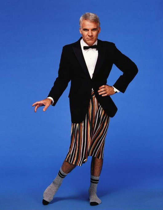 Happy Birthday to Steve Martin who turns 73 today!  Photo by Bonnie Schiffman in 1984.