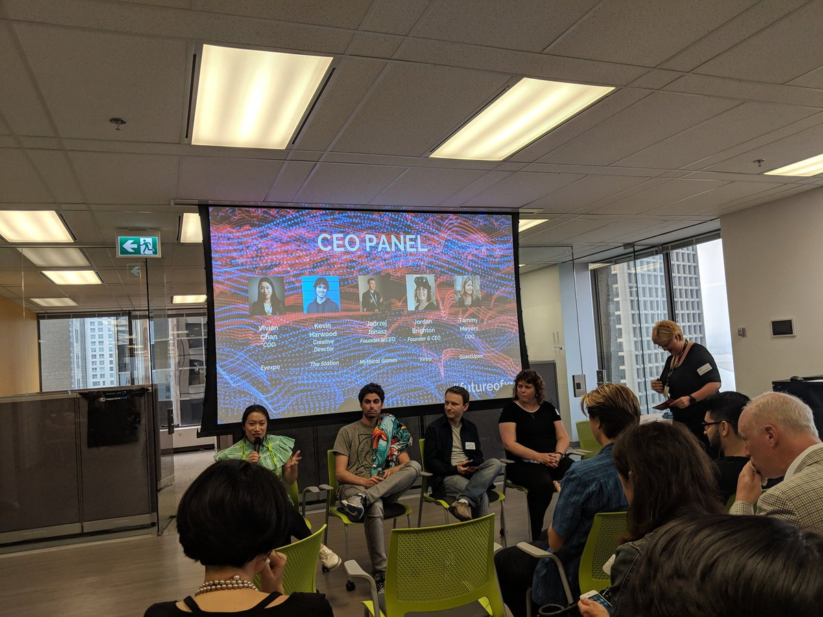 Spending the evening with @VirtroGames at their &quot;Future of XR - An Evening with Vancouver&#39;s XR Community&quot; - exciting things happening in this space! #XR #AR #VR #bctech <br>http://pic.twitter.com/QrcTVhbATp