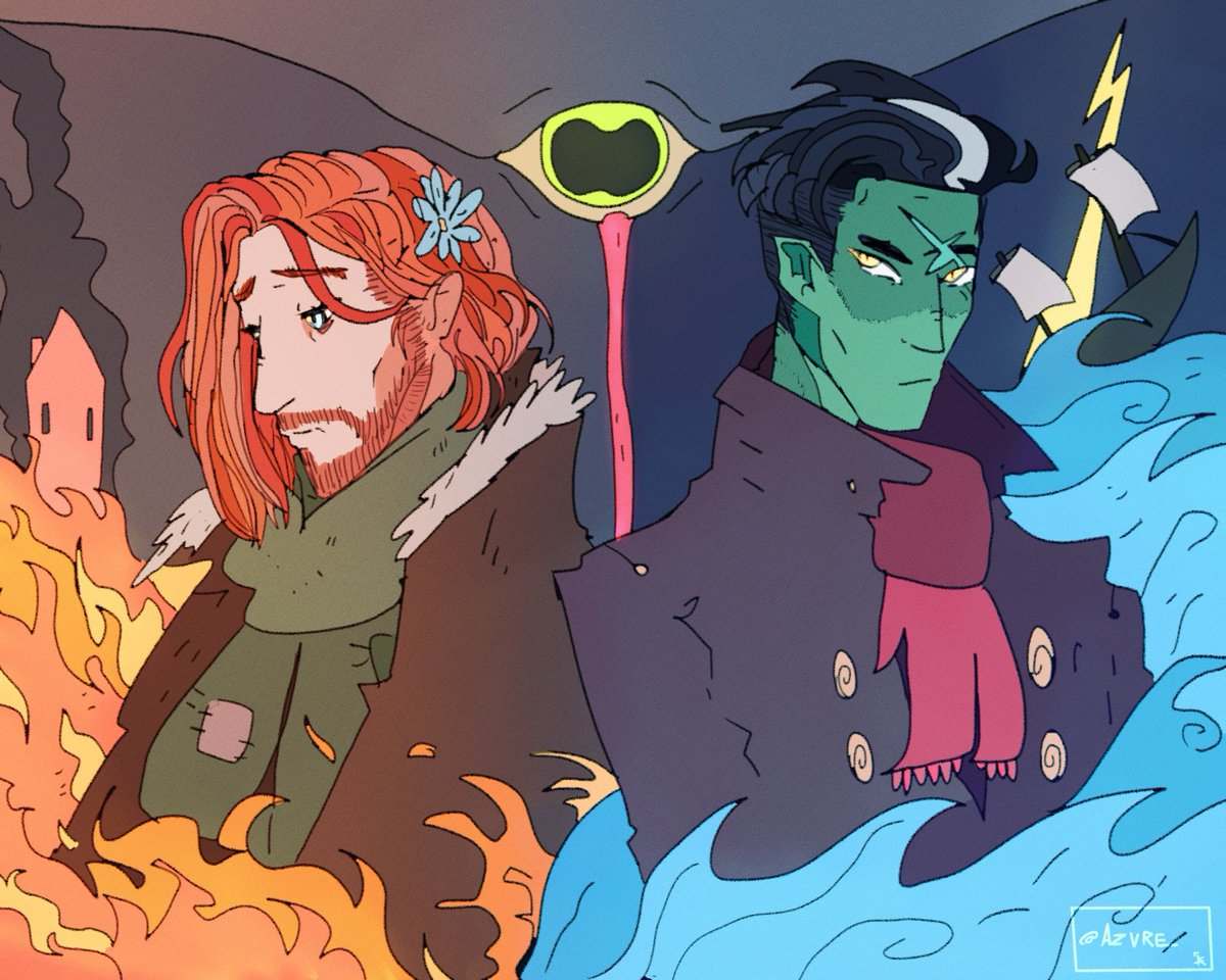 Duality  From @CriticalRole #criticalrolefanart #Caleb #Fjord<br>http://pic.twitter.com/SndkUfIZOq