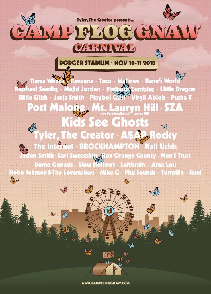 5262f59a4eca Peep the newly announced lineup for his 7th annual Camp Flog Gnaw Carnival  to be held at Dodger s Stadium in November. Tap tf in and let us know who  you re ...