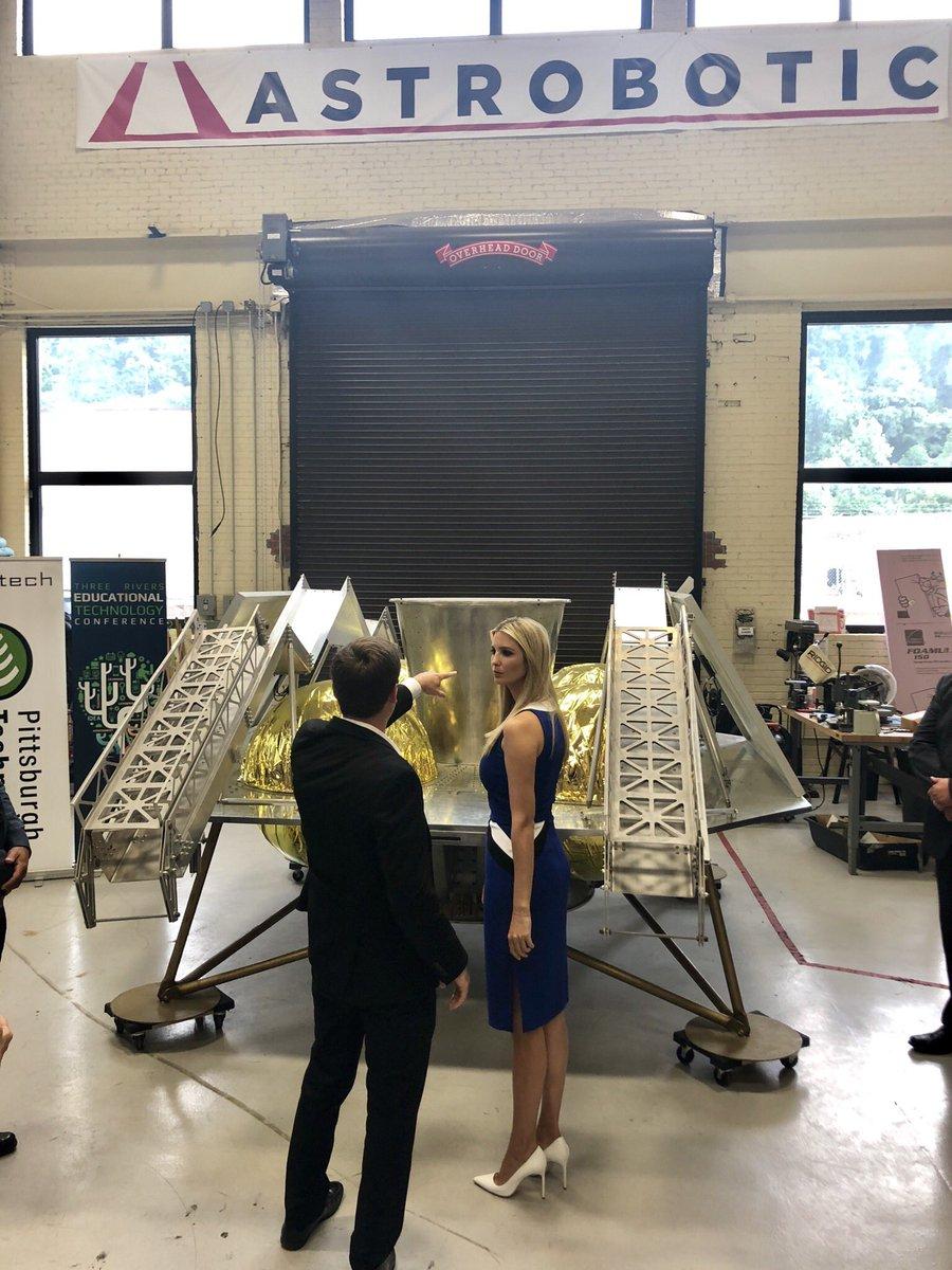 Ivanka Trump On Twitter Great Day At Astrobotic On Robotics Row
