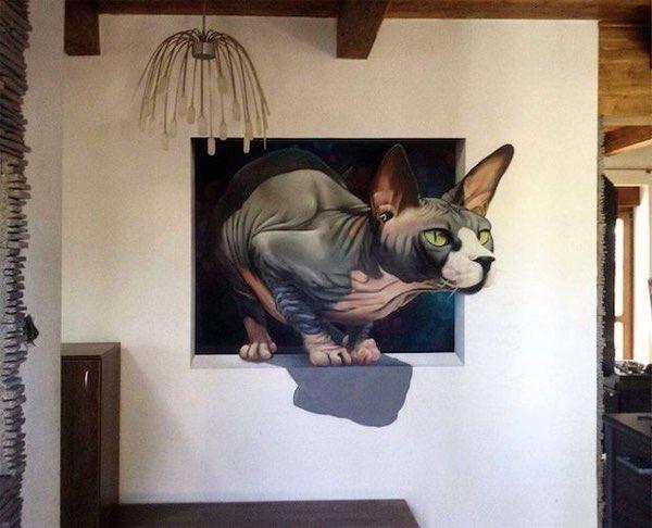 """@zairah89 """"Anche il più piccolo dei felini, il gatto, è un capolavoro"""" Leonardo da Vinci#Gatti  #StreetArt #ScrivoArte  - Ukustom"""