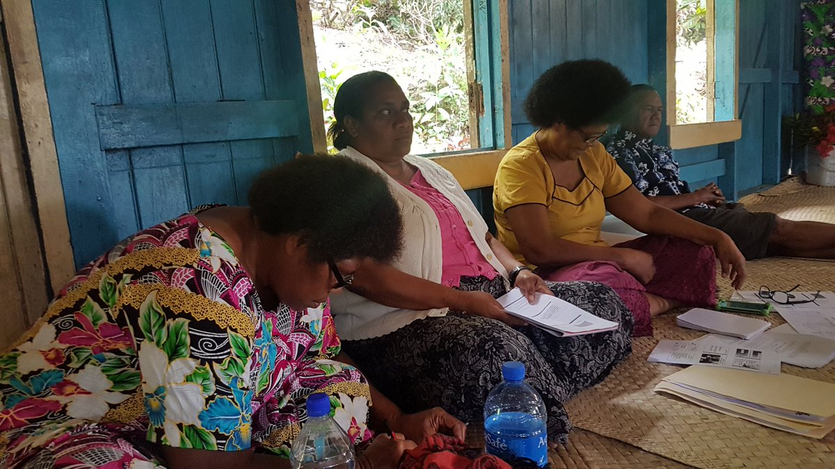 In #Moturiki Island #Market Vendors understand #GenderEquality its about shared roles responsibilities #recognition of #women contribution is #key to better living for family #community through #MarketsForChange #fiji @unwomenpacific @preeyaieli @kISIMELI @veibataki @siveinakama<br>http://pic.twitter.com/MLVZ8eZBZb