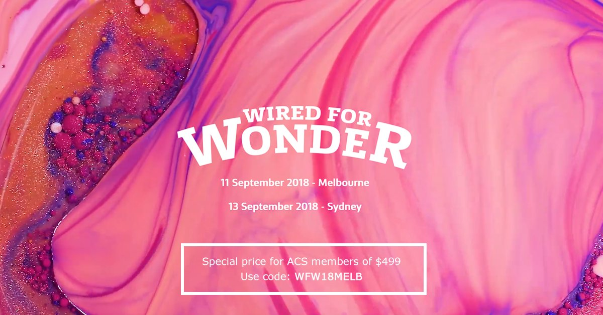 test Twitter Media - @CommBank have generously provided a discount to their @WiredForWonder event coming up in Sydney and Melbourne for all ACS members!  Check out the awesome event here: https://t.co/Bz0CyFpsGh #AusCareer https://t.co/7O3OyxWGMt