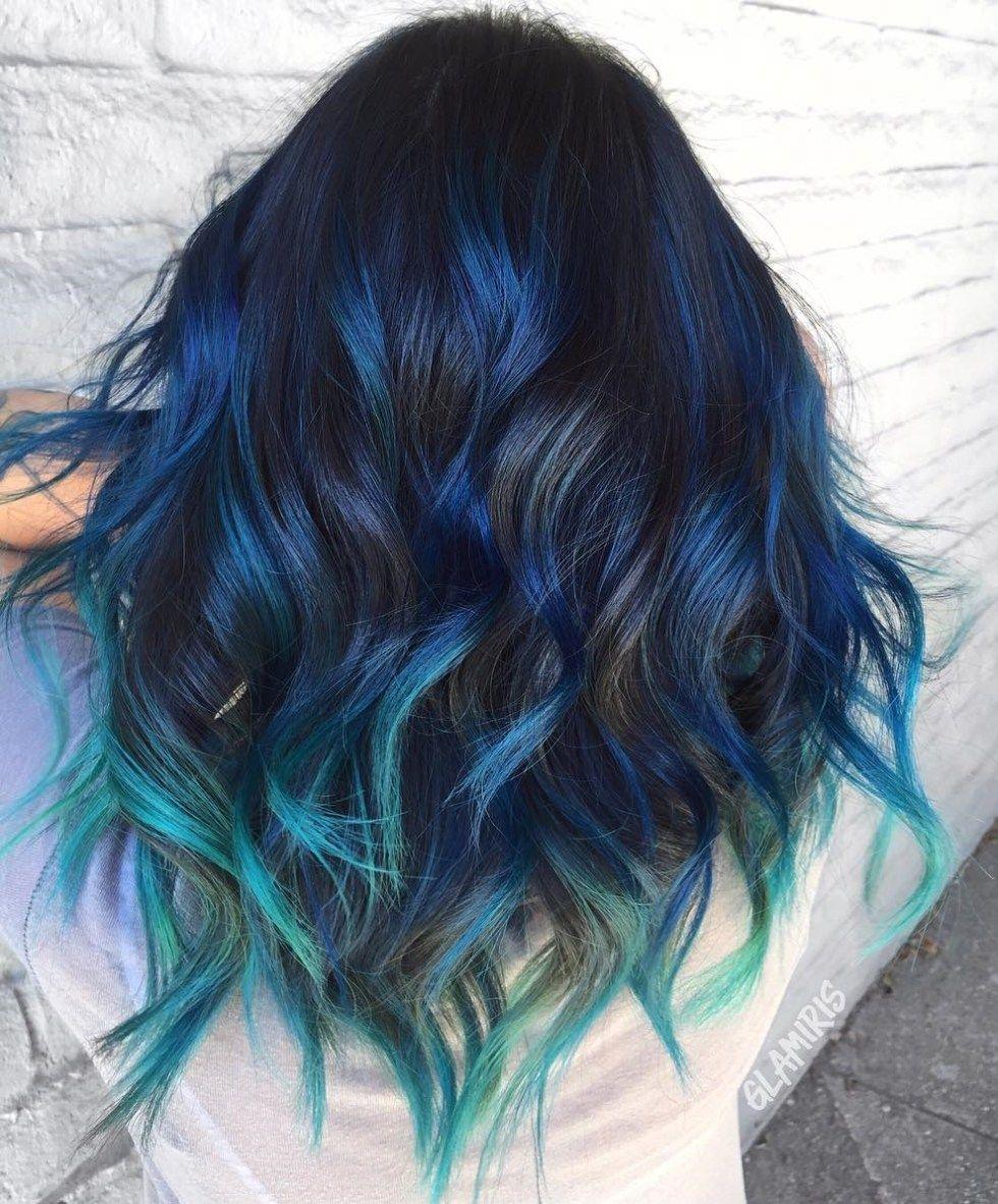 одно синий серый омбре на концах волос картинки был исполнителем главной