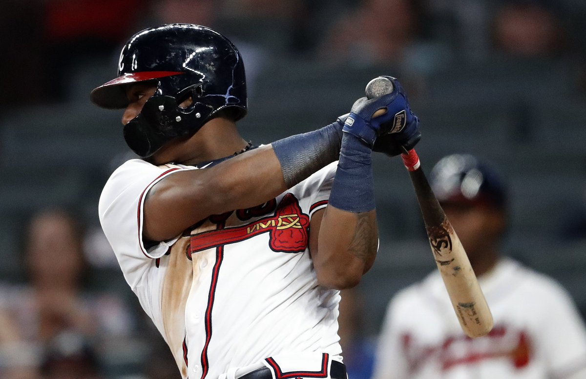 Ronald Acuña Jr. strikes again!   His leadoff HR today matches the Braves' franchise record of 5 straight games with a homer.   He's also the youngest to homer in 5 straight games. Acuña Jr. has a leadoff HR in 3 straight games, the longest streak since 1996.  h/t @EliasSports