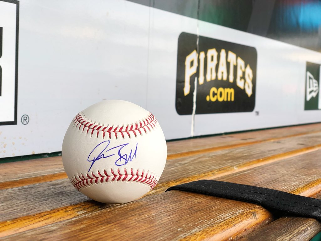 RETWEET THIS now for a chance to win a Josh Bell SIGNED baseball!  (wish him a Happy Birthday too) https://t.co/vLhrPsLPki