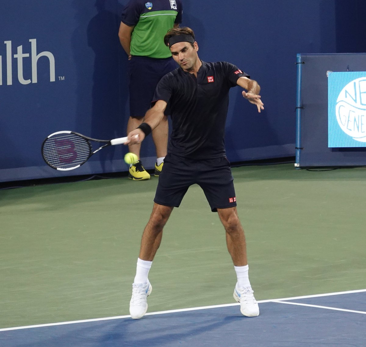 Roger Federer first match at @CincyTennis 2018 part 4<br>http://pic.twitter.com/lsWO2dUDOQ