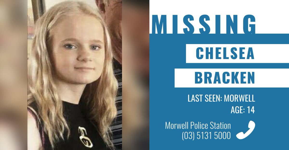 Police are appealing for public assistance to help locate missing 14 year-old Chelsea Bracken. → https://t.co/II0GokEU8Q