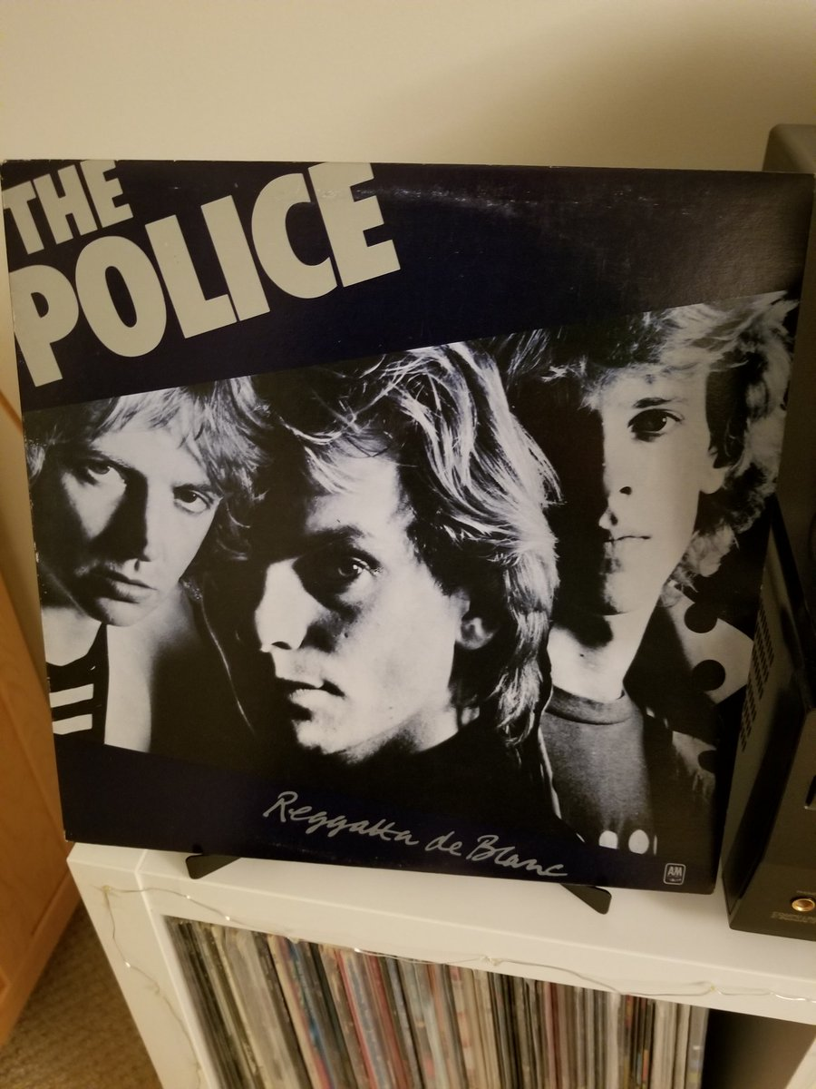 Day 122 tweeting #MyRecordCollection is the fantastic Reggatta de Blanc by The Police. What an amazing 2nd album... Walking On the Moon is one of my top 5 Police songs and Message In a Bottle is pretty damn close! Just picked this up on vinyl recently. #ClassicRock #vinylrecords <br>http://pic.twitter.com/UXZRuHUd70