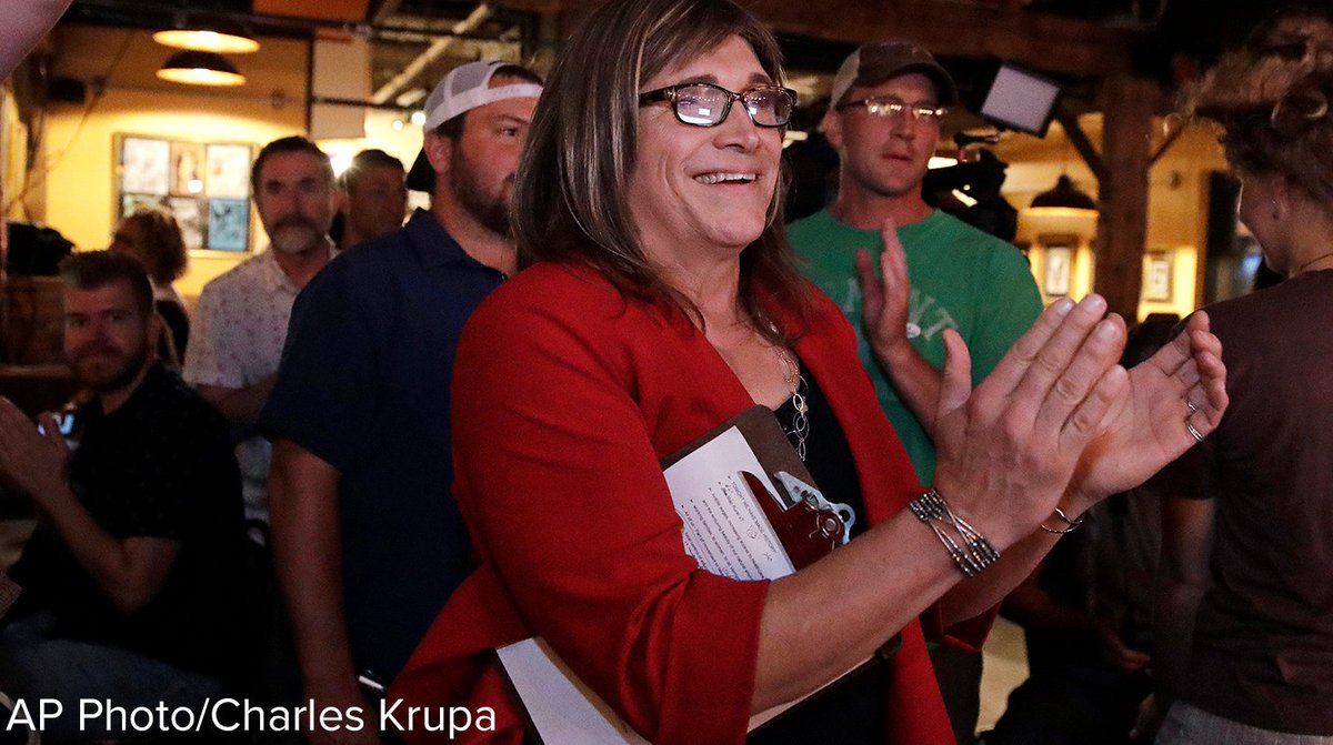 Vermont Democrats make history by nominating the first transgender candidate for governor in U.S. history: Christine Hallquist, the former chief executive of the Vermont Electric Cooperative, won the state's Democratic gubernatorial primary, AP projects. https://t.co/Qyw9eN1VWk