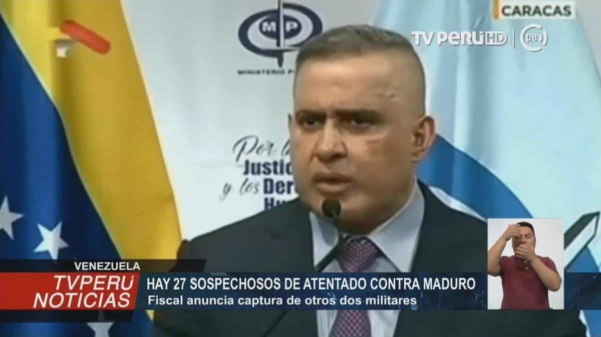 #Venezuela: Fiscalía estima que son 27 los sospechosos del presunto atentado contra Nicolás Maduro #TVPerúInforma