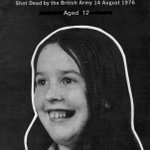 Remembering 12-year-old Majella O'Hare who was shot dead by the British Army in August 1976 in Ireland.