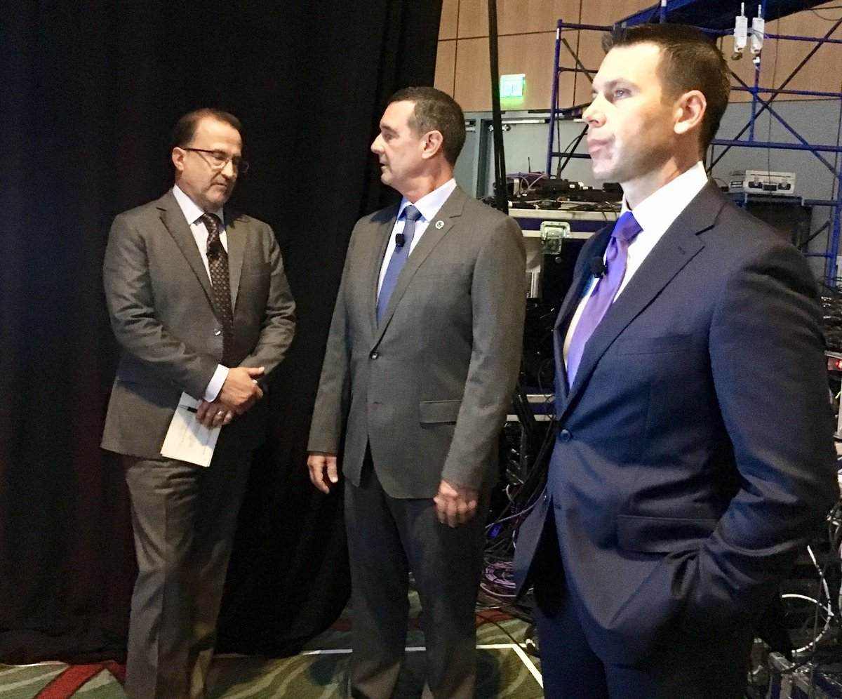 Day 1 of #GBTA2018 with @mikemccdc @TSA_Pekoske &amp; @CBP_McAleenan before &amp; during their first appearance here together to discuss the challenges of security in today's volatile world.  #biztravel <br>http://pic.twitter.com/tOwBZTZ9ql
