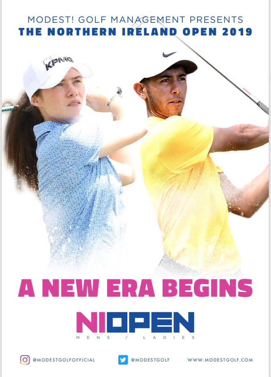 So excited to announce today our @modestgolf intention to bring a Ladies European Tour Event back to Northern Ireland in 2019...  The event will run alongside the Northern Ireland's Men's Event and will be the first of its kind in Europe.  A very exciting time for our business..